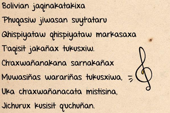 Himno Nacional de Bolivia en Aymará