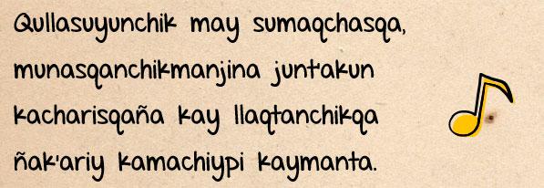 Himno Nacional de Bolivia en Quechua